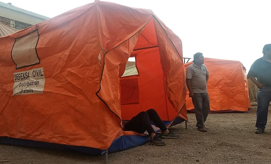 Relief tents in Peru