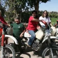 Neale Bayly riding in Peru - Wellspring outreach